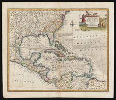 Antique West indies map