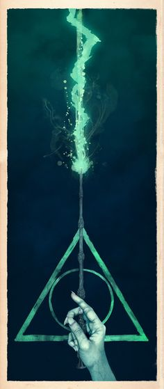 The three Hallows: Lord Voldemort's avada kedavra Art Print