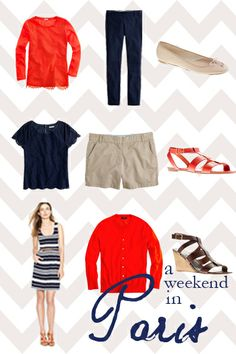 Easy packing guide for a weekend away. @Carly