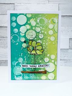 Make Today Amazing - Tracy Evans Card Making Inspiration, Art Journal Inspiration, Making Ideas, Art Journal Pages, Art Journals, Mini Albums, Artist Trading Cards, Watercolor Cards, Flower Cards