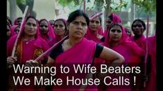 """""""The Gulabi gang (from Hindi gulabi, """"pink"""", transln. """"pink gang"""") is a group of women vigilantes and activists in India and even France. The gang was founde..."""