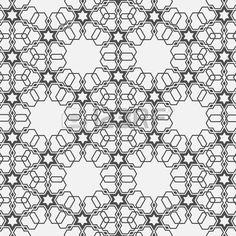 Monochromatische Muster auf islamische Motiv Vector nahtlose Hintergrund Stockfoto