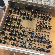 My fabulous essential oil drawer made by my hubby. Isn't it awesome!