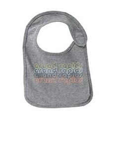 Grand Rapids Michigan Retro Funny Infant Jersey Bib Athletic Heather One Size, Grey