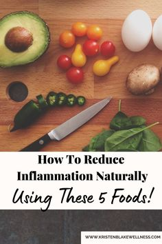 Do you have stiff joints, muscle pain and soreness, headaches or migraines? These are all signs of inflammation in the body. Read on to check out my top 5 anti-inflammatory foods you can add to your diet to help fight inflammation naturally. #Inflammation #Foods #NaturalHealing #HealthyEating #HealthImprove #FightInflammation #HealthyBody #Nutritionist #HolisticHealth #NaturalHealth