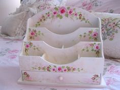 Hand Painted Letter Organizer Box