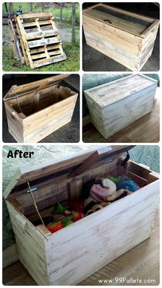 DIY Wooden Pallet Chest for Bedroom