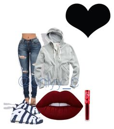 """""""Untitled #87"""" by onlyyc on Polyvore featuring NIKE and Lime Crime"""