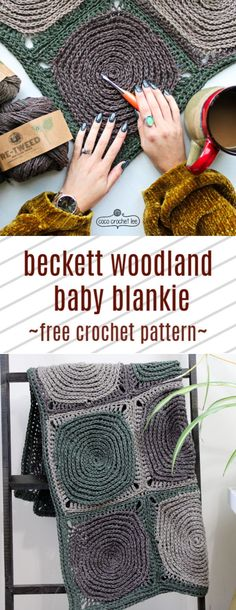 Texture The Beckett Woodland Baby Blankie is here! Made to look like knitting! this FREE crochet pattern is perfect for beginner crocheters that are looking to create a treasured blankie that has a gorgeous faux-knit texture. Free Baby Blanket Patterns, Crochet Blanket Patterns, Baby Blanket Crochet, Crochet Baby, Free Crochet, Unique Crochet, Baby Afghans, Newborn Crochet, Baby Patterns