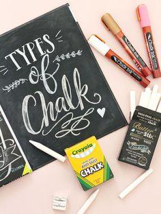 Chalk artist Valerie McKeehan explains her favorites types of chalk // Lily & Val Chalk Writing, Chalkboard Writing, Chalkboard Lettering, Chalkboard Designs, Chalkboard Paint, Chalkboard Ideas, Chalkboard Markers, Chalkboard Stencils, Blackboard Art