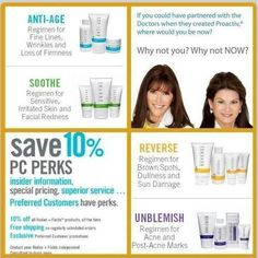 From the world famous doctors who created Proactiv.... Rodan and Fields Dermatology. Changing skin. Changing lives.  Email me and I would love to tell you more...Lets Chat:) rf.1234skincare_tkb@yahoo.com