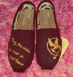 Love it! Hunger Games shoes.