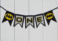 www.withowlourlove.etsy.com Batman First Birthday Party ONE/NAME Felt and by WithOwlOurLove