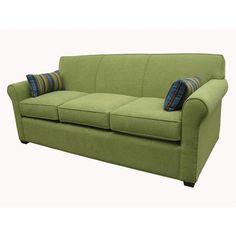 International Concepts Sabine Winslow Sofa Frame Finish: Antique Pine, Upholstery: Blue Chip