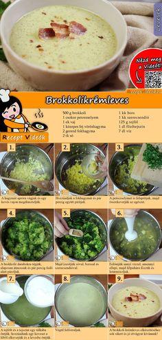 #brokkoli #kremleves #veganebrokkoli A brokkoli krémleves egy gyors és egyszerű étel! Igazi vitaminbomba ráadásul isteni finom! A Brokkoli krémleves recept videóját a kártyán levő QR kód segítségével bármikor megtalálod!  #BrokkoliKrémleves #Krémleves #Brokkoli