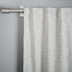 Guest Bedroom Curtain Option -   Textured Weave Curtain + Blackout Lining - Ivory | west elm