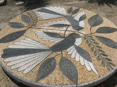 mosaic pebbles artwork by John Botica Mosaic Flower Pots, Mosaic Pots, Mosaic Birds, Pebble Mosaic, Mosaic Wall Art, Mosaic Diy, Mosaic Garden, Mosaic Crafts, Mosaic Projects