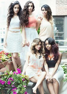 FIFTH HARMONY ♡ ___________________________________________ One of my most favorite photoshoots ever. I got this customized on a phone case and the girls signed it.