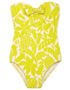 so tropical, love it. Pineapples on a swim suit!!