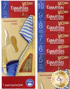 Adult Espadrille Wedge Soles - Sizes 5-10: Make yourself a unique pair of espadrille wedges! Espadrilles is a collection of DIY shoemaking products by Dritz…