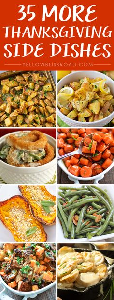 These 35 Thanksgiving Side Dishes will make your dinner a showstopper. Click through now and start your Thanksgiving planning! Thanksgiving Appetizers, Thanksgiving Side Dishes, Thanksgiving Recipes, Holiday Recipes, Thanksgiving Turkey, Christmas Desserts, Dinner Recipes, Thanksgiving Prayer, Thanksgiving Outfit