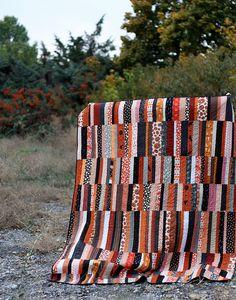 halloween modern quilt