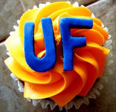 gator cupcakes #uf #collegefootball #recipes