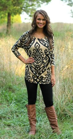 The Pink Lily Boutique - Breath of Fresh Air Tunic, $34.00 (http://www.thepinklilyboutique.com/breath-of-fresh-air-tunic/)