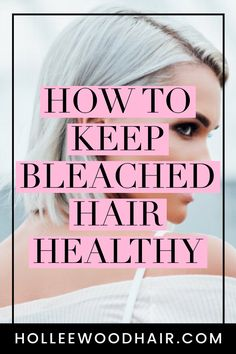 If you want platinum blonde hair or even a light ash blonde, you'll have to bleach your hair first. Find out everything you can do to keep your bleached hair healthy! hair care How To Keep Bleached Hair Ultimate Guide Hair Growth Cycle, Hair Growth Tips, Natural Hair Growth, Natural Hair Styles, Healthy Blonde Hair, Blonde Hair Care, Platinum Blonde Hair, Bleach Blonde Hair, Dark Curly Hair