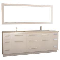 espresso vanity set with bench. Mercury Row Alpheus 84  Double Bathroom Vanity Set with Mirror Reviews Wayfair Design Element London 90 inch Espresso Brown