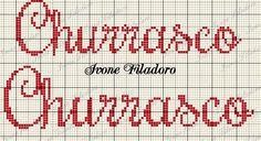 Cross Stitch Quotes, Kitchen, Cross Stitch Art, Monogram Alphabet, Cross Stitch Embroidery, Dishcloth, Names, Cross Stitch, Lyrics