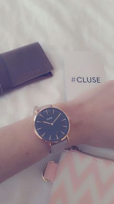 Love my grey, rose gold and black Cluse watch