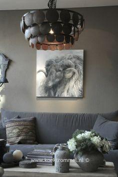 schilderij van ram