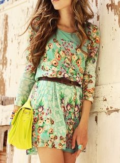 Attractive and Cute sleeve floral summer dress for ladies... click on picture to see more fashions