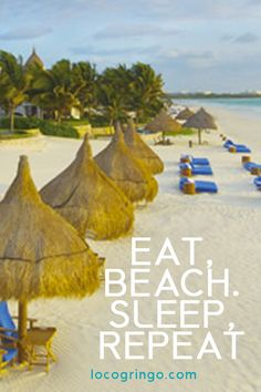 What we love about the Riviera Maya is the host of different cities and villages where you can do just this. Eat, beach, Sleep, Repeat.