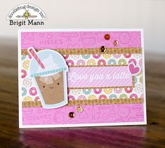 "Brigit's Scraps ""Where Scraps Become Treasures"": Cream & Sugar Cards - Doodlebug Design Team Project Creative Arts And Crafts, Creative Cards, Valentine Love Cards, Coffee Cards, Scrapbook Paper Crafts, Scrapbooking, Kawaii, Cream And Sugar, Card Sketches"