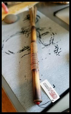 Handmade Paint Brush 7 inch Natural Stiff Fiber Bristles, On A 13 inch Long TX Bamboo Handle - Elizabeth Schowachert Art Natural Brushes, Paint Thinner, Handmade Paint, Sumi Ink, Painting Tools, Mark Making, How To Antique Wood, Metal Bands, Paint Brushes