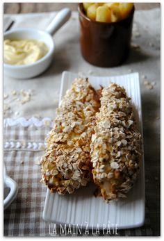aiguillettes de poulet panées aux flocons d'avoine