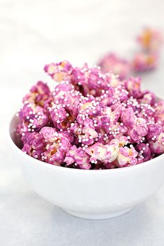 purple popcorn. must try making these :)