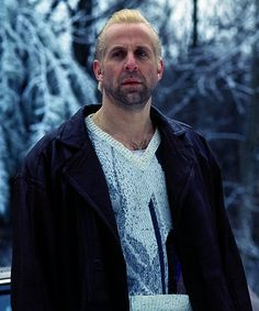 Peter Stormare in Fargo - he hardly says anything, yet he gives such a chilling and powerful performance..