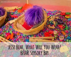 BFIAR Jesse Bear sensory bin