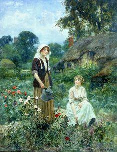 Watering the Roses - Henry John Yeend King - (English, 1855 - 1924)