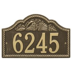 Personalized Rope Shell Arched Nautical Wall Address Plaque - One Line Available now at the best price only at www.everythingnautical.com  #Nautical #Home #Decor #Gifts