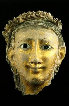Mask from the mummy of a woman (Roman period, 1st Century A.D.)