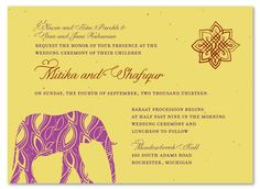 Indian Wedding Cards ~ Painted Elephant