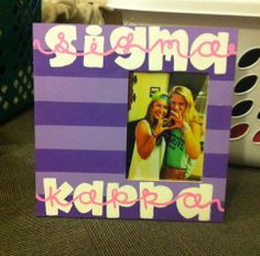 Sigma Kappa picture frame