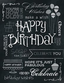 Tinker With Ink & Paper: Chalkboard Birthday Card