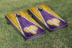 West Chester University Rams Reclaimed Wood w/ Triangle Bag Toss Game Set
