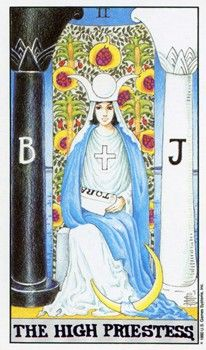 Exploring the abundance of symbols within the enigmatic High Priestess Tarot card from the Rider-Waite-Smith tradition.
