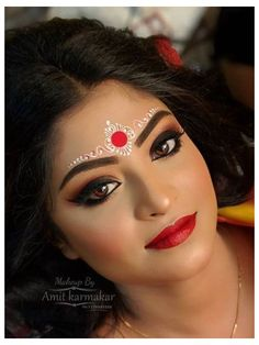 Bengali Bridal Makeup, Bridal Eye Makeup, Bridal Makeup Looks, Indian Bridal Fashion, Bride Makeup, Bridal Looks, Bridal Shoot, Bridal Photoshoot, Black Eye Makeup